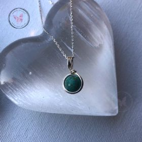 Turquoise Sterling Silver Wire Wrapped Pendant